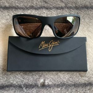 { Maui Jim } Peahi Polarized Wrap Sunglasses